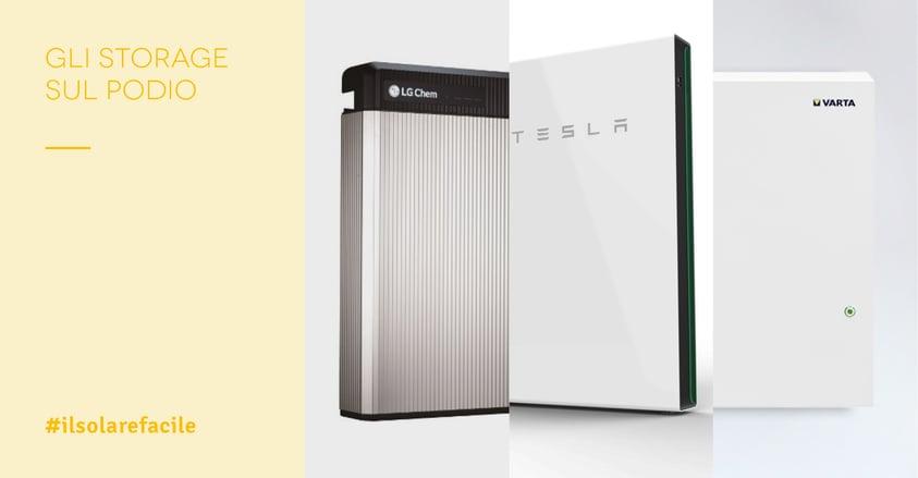 La top 3 dei sistemi di accumulo energia elettrica