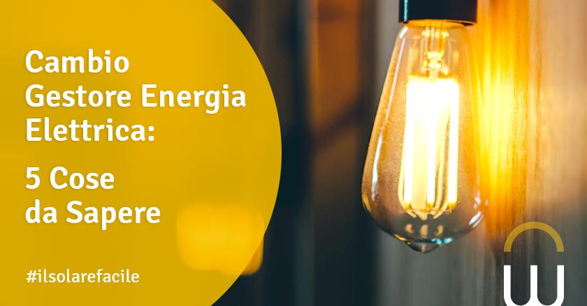 Cambio Gestore Energia Elettrica: 5 Cose da Sapere