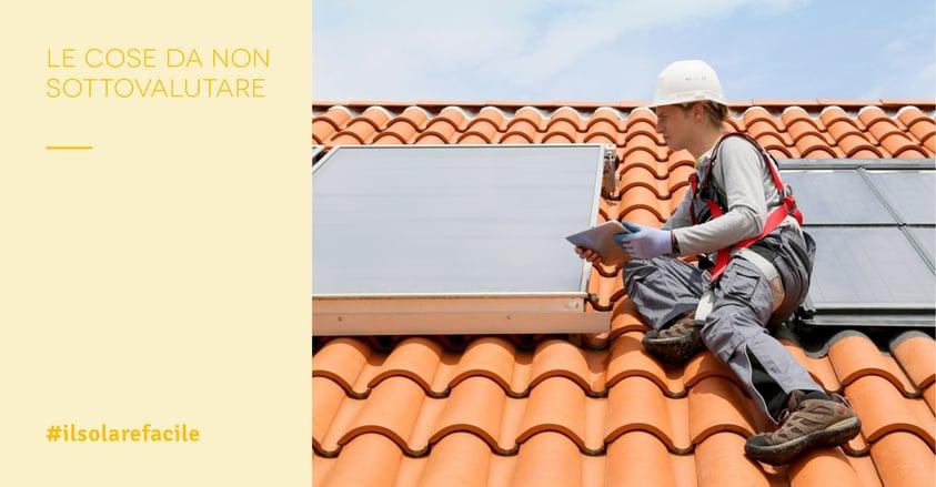 Installazione impianto fotovoltaico: 5 errori da evitare