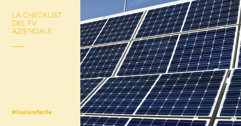 Come scegliere il fotovoltaico per aziende: la checklist da seguire