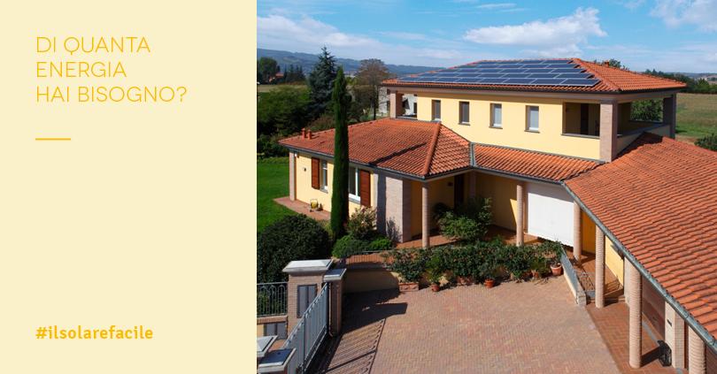 Dimensionamento impianto fotovoltaico per villetta