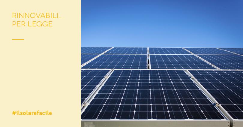 Quando scatta l'obbligo fotovoltaico
