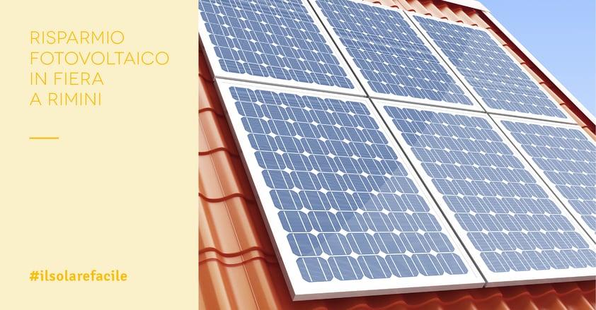 Risparmio fotovoltaico in Fiera a Rimini