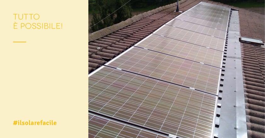 Impianto fotovoltaico centro storico e zone vincolate