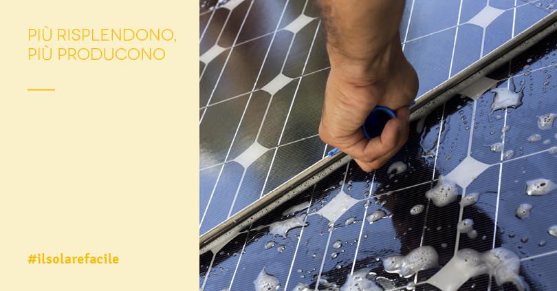 Lavaggio impianti fotovoltaici e produttività dei pannelli