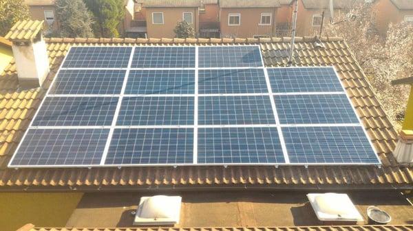 Dimensione pannelli fotovoltaici per un impianto domestico