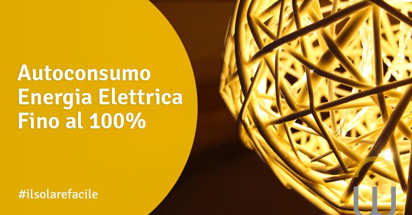 Autoconsumo Energia Elettrica Fino al 100%