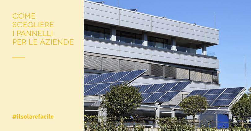 Pannelli Fotovoltaici per Aziende: caratteristiche e installazione