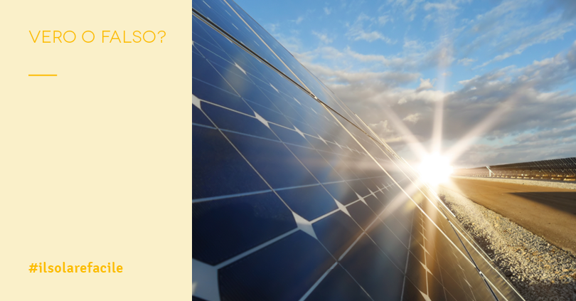 I 3 falsi miti più diffusi sui pannelli fotovoltaici