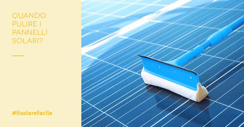Pulizia fotovoltaico: quando farla?